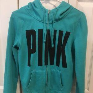 Pink Victoria secret jacket.
